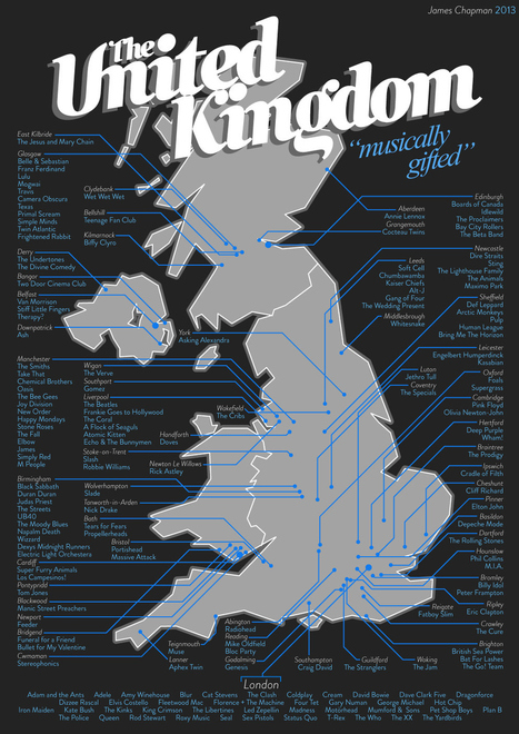 Gorgeous Music Map Of The UK | Cartomanie | Scoop.it
