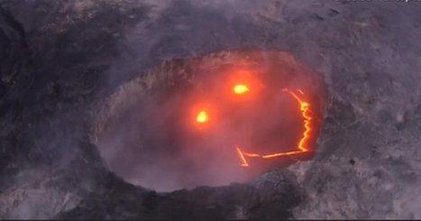 Hawaiian volcano 'smiles' as lava reaches the ocean | ❀ hawaiibuzz ❀ | Scoop.it
