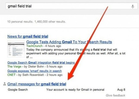 Up Close: Gmail In Google Search Results Field Trial | Search Engine Marketing Trends | Scoop.it