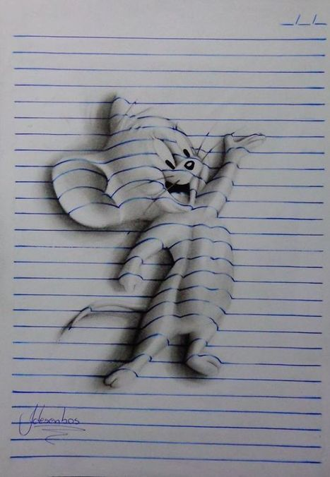 Notepad Illusions Look Like 3D Sculptures, But They're 2D Illustrations | The brain and illusions | Scoop.it