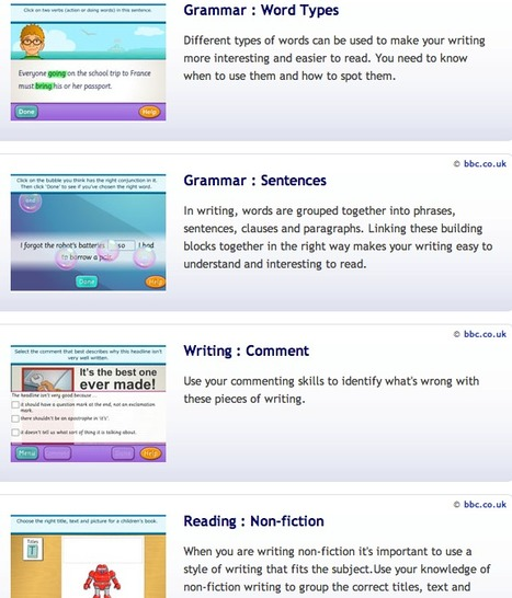 Crickweb | KS2 Literacy - Activities for Learning English | Sites for Educators | Scoop.it