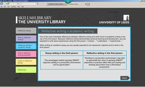 """The """"how"""" and """"why"""" of writing reflectively   Reflective Writing   Scoop.it"""