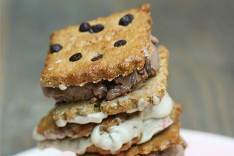 Ice Cream Sandwiches With Crunchy Chocolate Chip Cookies [Vegan] | My Vegan recipes | Scoop.it