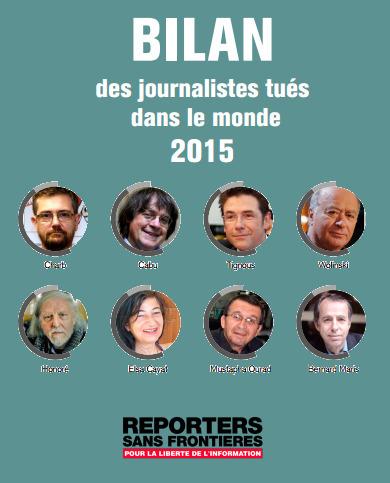 La France, 3e pays le plus meurtrier pour les journalistes en 2015 | DocPresseESJ | Scoop.it