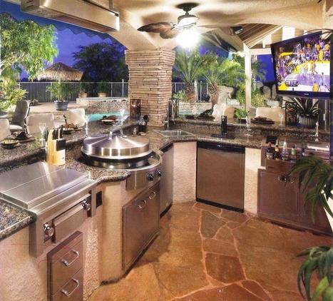 Modern Outdoor Kitchen Designs The Pool Ints Decor Backyard Fashionable Ideas Modern Outdoor Kitchens With Pool Decor Design Home Ideas   Decorating Ideas - Home Design Ideas   Scoop.it