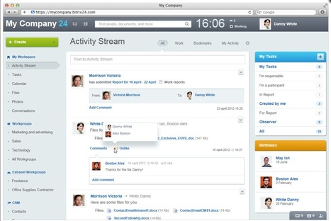 Create Your Social Intranet with Bitrix24 | Beyond Marketing | Scoop.it
