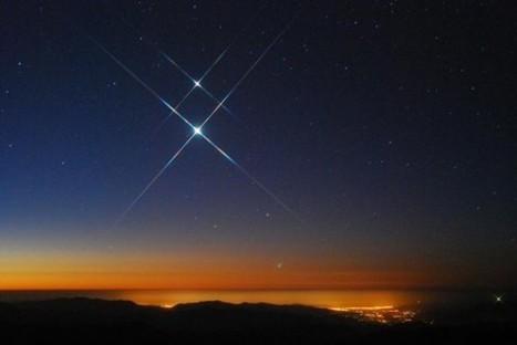 La conjunción de Júpiter y Venus fotografiada por Arturo Gómez   Goefry en la Luna   Reflejos   Scoop.it