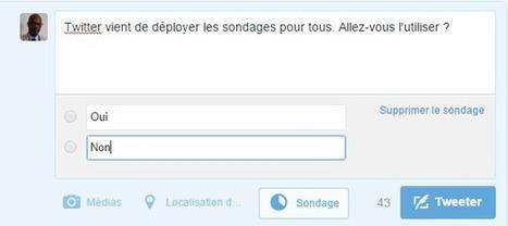 Twitter généralise les Sondages pour tous - Arobasenet.com | Going social | Scoop.it