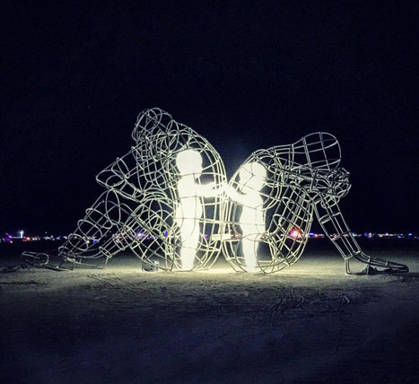 Powerful Sculpture At Burning Man Shows Inner Children Trapped Inside Adult Bodies | Complexity Science | Scoop.it