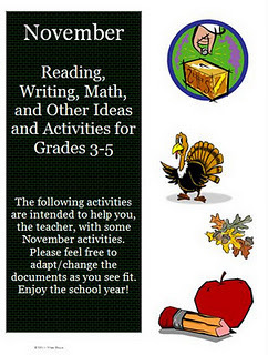 November Reading, Writing, and Math Activities for Intermediate Grades | elementary education | Scoop.it