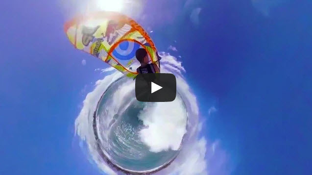 Red Bull Raises the Extreme Video Bar with Interactive 3rd Person 360º Little Planet Wind Surfing Video