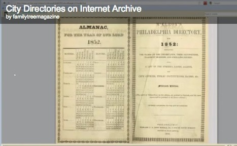 Genealogy Insider - City Directories: Watch and Learn | Genealogy Technology | Scoop.it