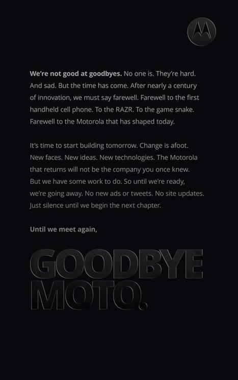 «Goodbye Moto», pour mieux dire bonjour au Moto X ? | MotoX | Scoop.it