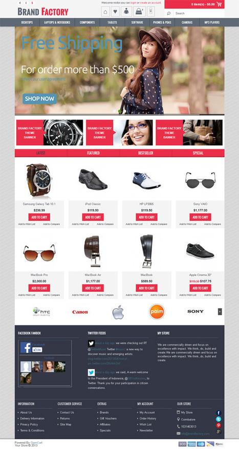 Brandfactory, Opencart Apparel Clothes Store Theme | Premium Download | Premium Opencart Themes | Scoop.it