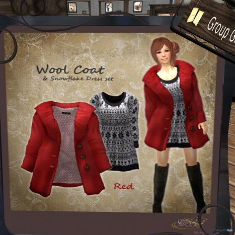 Wool Coat and Snowflake Dress Set Group Gift by S@BBiA | Teleport Hub - Second Life Freebies | Second Life Freebies | Scoop.it