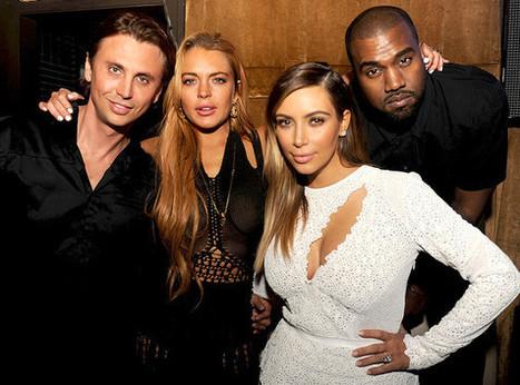 06/12 Kim Kardashian, Kanye West, Lindsay Lohan… ¡Todos juntos! (+ Foto)   asunciononline.com   Scoop.it