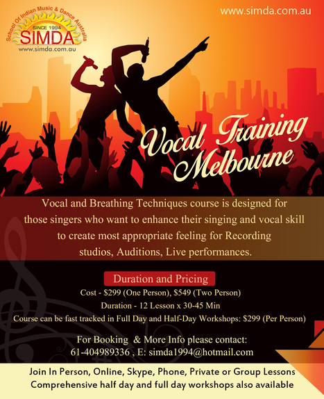 Vocal Voice Training, Coaching & Lessons Melbourne | Infographic | Scoop.it
