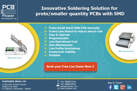 PCBPOWER soldering solution with SMD reflow oven & SMD stencil printer | CSIL - Printed Circuit Board Manufacturer | Scoop.it