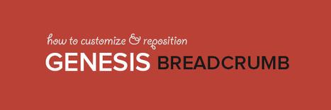 Modify & Reposition Genesis Breadcrumb - WPVKP   Genesis Code Snippets   Scoop.it