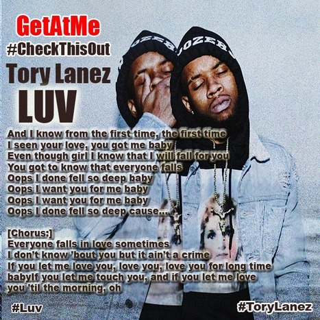 GetAtMe- #CheckThisOut Tory Lanez 'LUV' ... #DjAlert | GetAtMe | Scoop.it