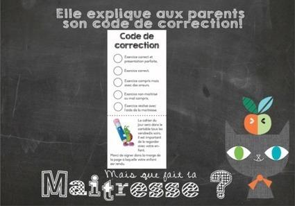 cahier du jour : code de correction | Les profs bloguent | Scoop.it