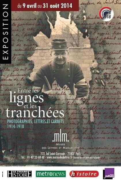 14-18 entre les lignes et les tranchées : exposition au Musée des Lettres et Manuscrits, Paris   Nos Racines   Scoop.it