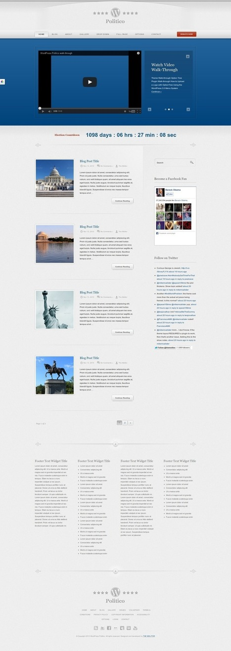 Best Politician Wordpress Themes With video support 2014 | Wordpress Themes 2014 | Scoop.it