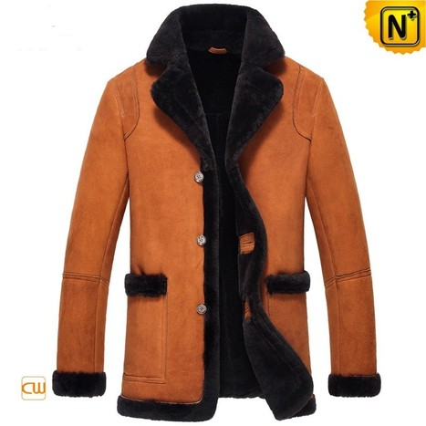 CWMALLS® Mens Shearling Leather Coat CW852206 | Leather Trench Coat | Scoop.it
