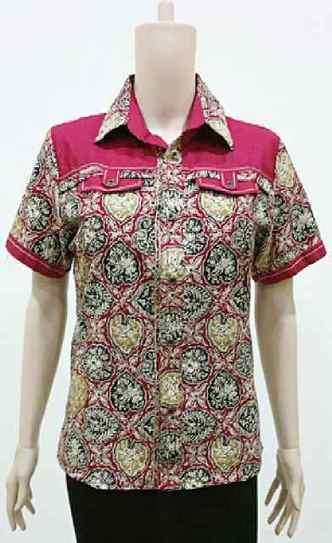 Blus Batik Casual Merah BW741 | Toko Online Batik Ganitri | mischaYY | Scoop.it