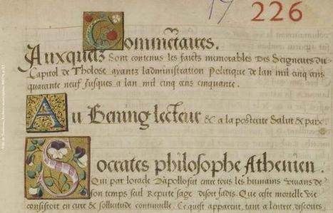Succession de lettrines en tête de la chronique des Annales manuscrites de 1549-1550 - par @vieux_Toulouse | Rhit Genealogie | Scoop.it