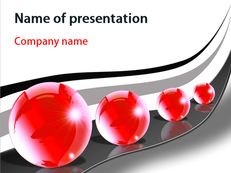 Download free Red Bubbles powerpoint template for presentation | Powerpoint Templates and Themes | Scoop.it