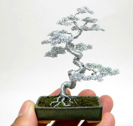 Miniature Wire Bonsai Trees | The Blog's Revue by OlivierSC | Scoop.it