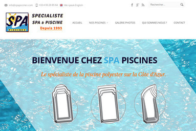 Creation site internet SPA Piscines – Pisciniste Nice | Création site internet | Scoop.it