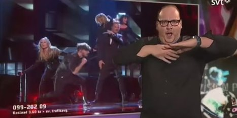 Swedish Sign Language Interpreter Becomes Viral Video Star | Strange days indeed... | Scoop.it
