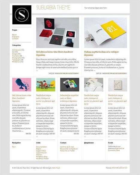 20+ Free WordPress Themes Following the Flat Web Design Trend | Responsive web design | Scoop.it