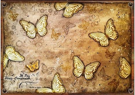 Mariposas doradas imitando relieve   Tutoriales, herramientas y técnicas   Scoop.it