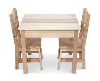 Melissa & Doug Wooden Table and 2 Chairs Set | Home Office Furniture | Scoop.it