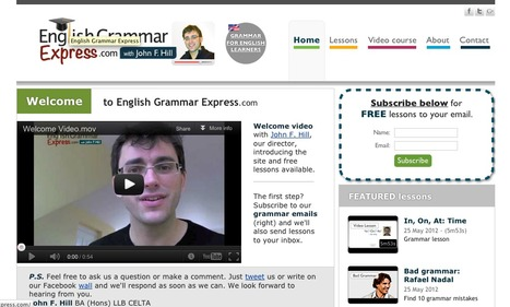 English Grammar - Video Lessons & Exercises | Learning English 4U | Scoop.it