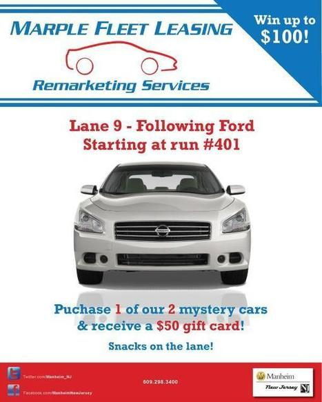 Twitter / Manheim_NJ: You could win up to $100 with ... | Manheim NJ Auto Auction Dealer Rep. | Scoop.it