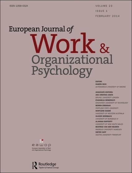 European Journal of Work and Organizational Psychology | Call for Papers for Special Issue | Explore Taylor & Francis Online | Industrial Organizational Psychology | Scoop.it