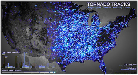 Tornado Tracks Map | Geospatial Technology News (including Maps, GPS, GIS, Lidar, Augmented Reality) | Scoop.it