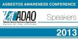 "Asbestos Disease Awareness Organization (ADAO) 2013 ADAO Conference ""Meet the Speaker"" Series 