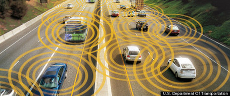 V2V: Department of Transportation's new communication system helps cars avoid crashes by talking to each other | KurzweilAI | The Robot Times | Scoop.it