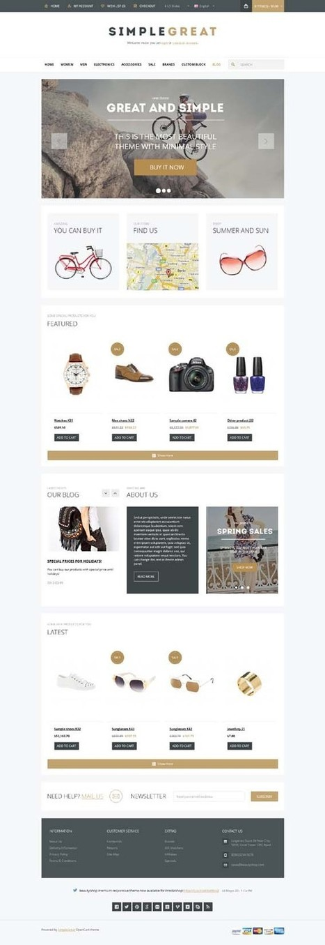 SimpleGreat, OpenCart Premium Responsive Shop Theme | Premium Download | Premium Opencart Themes | Scoop.it