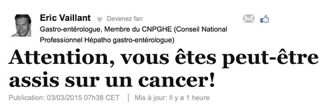 Attention, vous êtes peut-être assis sur un cancer! | Médicaments | Scoop.it