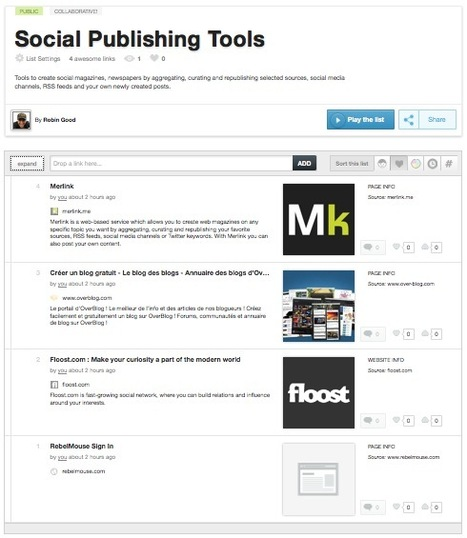Curate and Publish Navigable Lists of Links with URList | Digital tools for education | Scoop.it