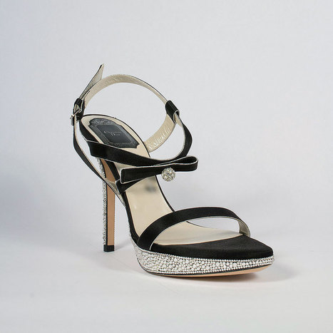 Christian Dior Hand Strass Crystal Serenade Black Sandals | Wedding shoes | Scoop.it