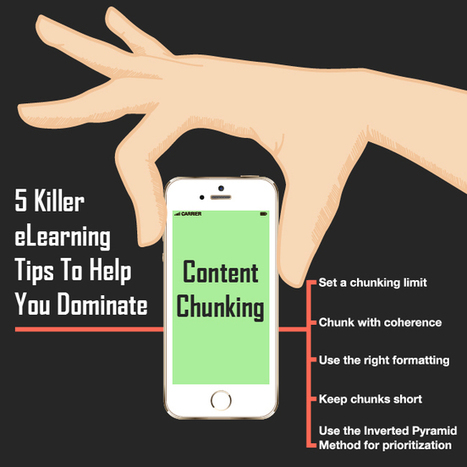 5 Killer eLearning Tips To Help You Dominate Content Chunking | Organizational Learning and Development | Scoop.it
