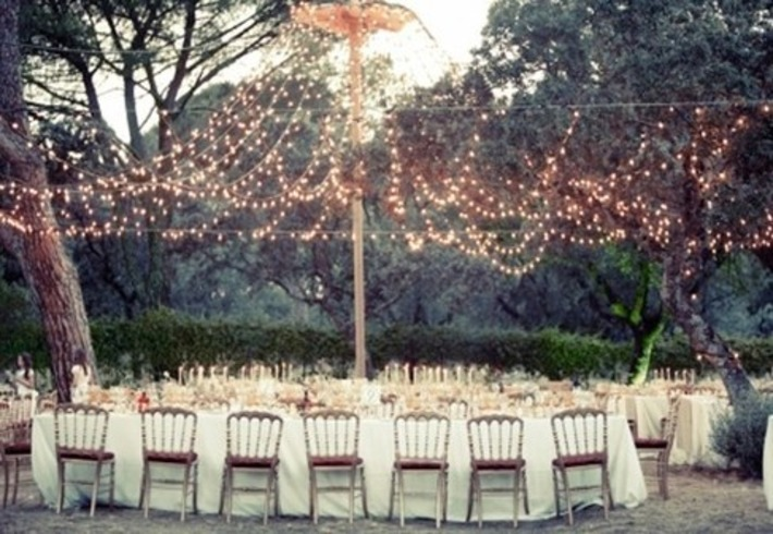 Fairy lights to add a magical feel to an outdoor celebration | Wedding Ideas | Scoop.it