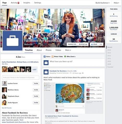Facebook : nouveau design des pages arrivera dans les prochains jours   Les actu du E-tourisme   Scoop.it